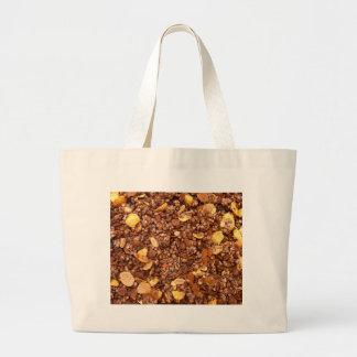 Crisp Muesli Texture Large Tote Bag