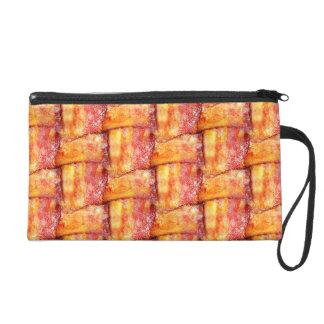 Crispy Bacon Weave Pattern Wristlet Purse