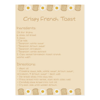 Crispy French Toast Postcard