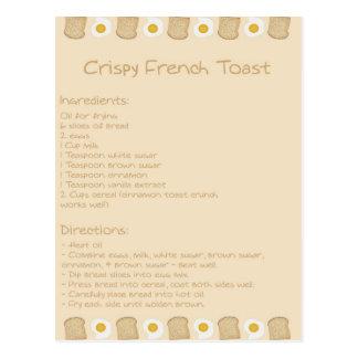 Crispy French Toast Postcard