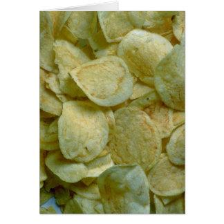 Crispy potato chips card