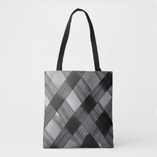 Criss Cross Leaves Black-White Tote