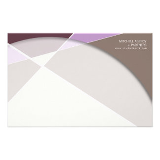 Criss Cross * Plum Purple Business Stationery
