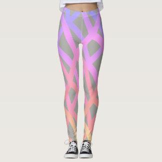 Crisscross Rainbow Pattern on Gray - Leggings