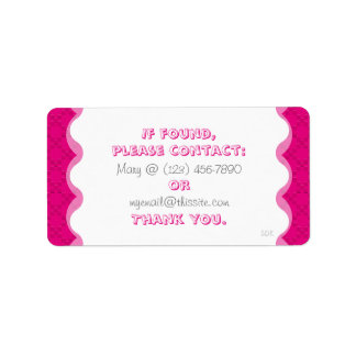 CrissCross U Pick Color/Lost Found Personal Item Address Label