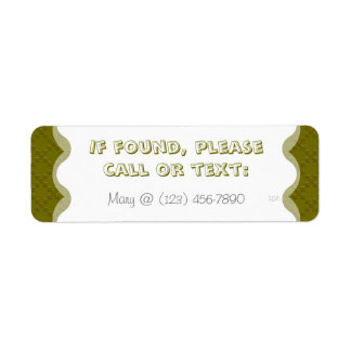 CrissCross U Pick Color/Lost Found Personal Item Return Address Label