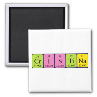 Cristina periodic table name magnet