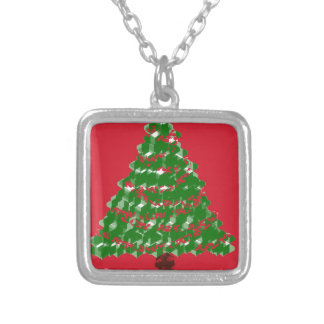 Cristmas Tree Joy Silver Plated Necklace