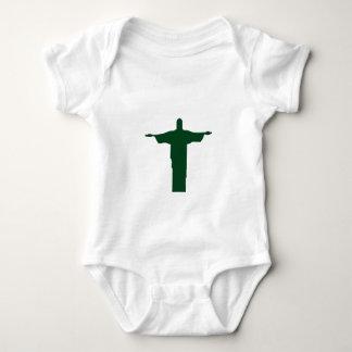 Cristo Redentor_green Baby Bodysuit