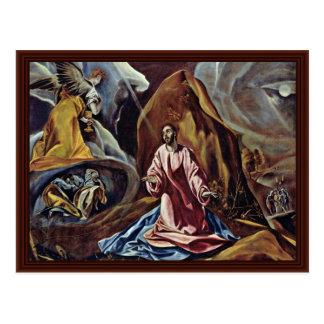 Cristus Garden Of Olives By Greco El Postcard