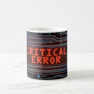 Critical error concept. coffee mug