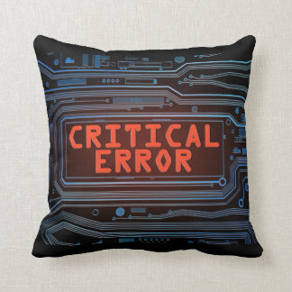 Critical error concept. cushion