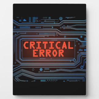 Critical error concept. display plaques