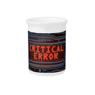 Critical error concept. drink pitcher
