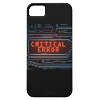 Critical error concept. iPhone 5 cover