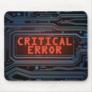Critical error concept. mouse pad