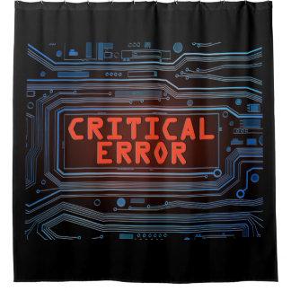 Critical error concept. shower curtain