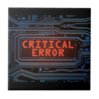 Critical error concept. tile