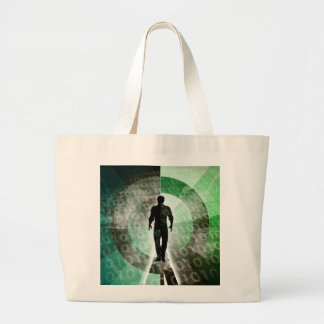 Critical Technology Skills and Important Industry Large Tote Bag