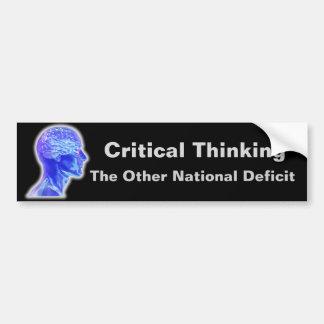 Critical Thinking Bumper Sticker
