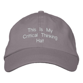Critical Thinking Hat Embroidered Baseball Caps