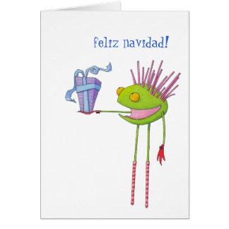 Critter Cedric Spanish Christmas Card