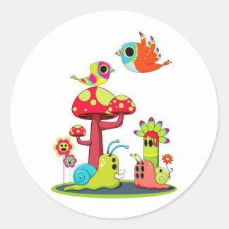 Critter Romance Round Sticker