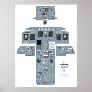 CRJ Cockpit Poster