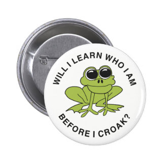 Croak 6 Cm Round Badge
