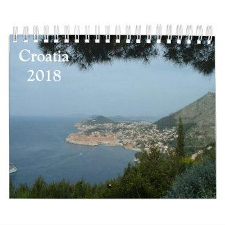 Croatia 2018 calendars