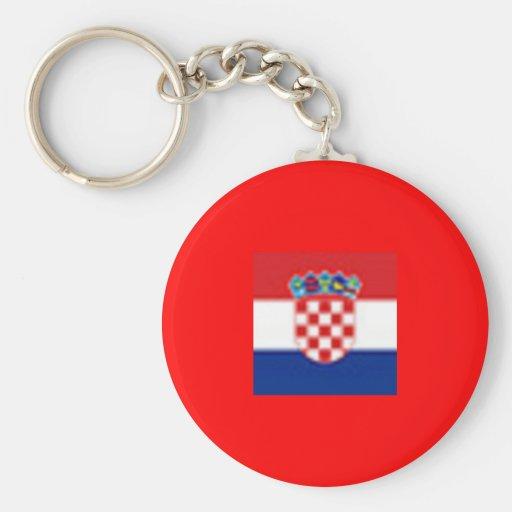 Croatia Basic Button Keychain Key Chain