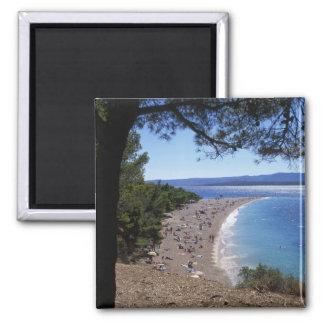 Croatia, Brac Island, Bol, Golden Cape Beach Magnet