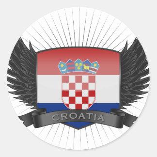 CROATIA CLASSIC ROUND STICKER