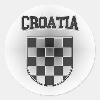 Croatia Coat of Arms Classic Round Sticker