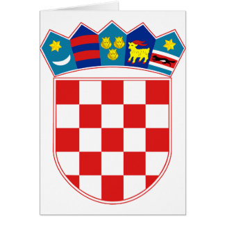 Croatia Coat of arms HR Hrvatska Greeting Card