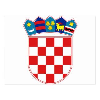 Croatia Coat of arms HR Hrvatska Postcard