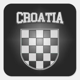 Croatia Coat of Arms Square Sticker