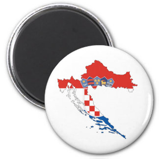 croatia country flag map shape silhouette magnet