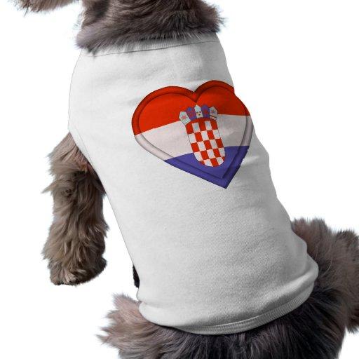 Croatia Croat Flag Doggie Tshirt