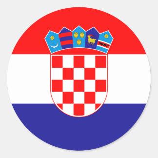 Croatia/Croatian/Croat Flag Classic Round Sticker