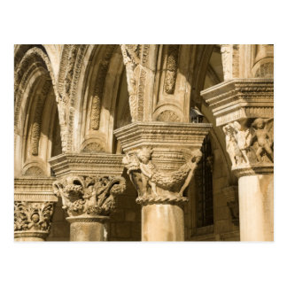 Croatia, Dalmatia, Dubrovnik. Stone arches and Postcard