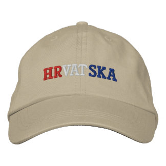 Croatia Embroidered Baseball Cap