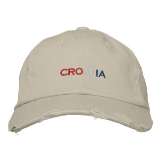 CROATIA EMBROIDERED HAT
