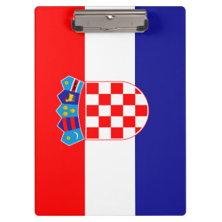 Croatia Flag Clipboard