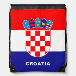 Croatia Flag Drawstring Backpack
