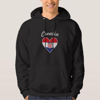 Croatia Flag Heart Hoodie