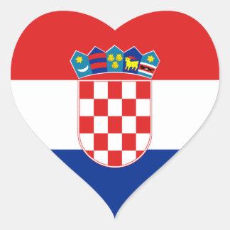 Croatia Flag Heart Sticker