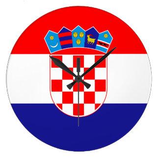 Croatia Flag Large Clock