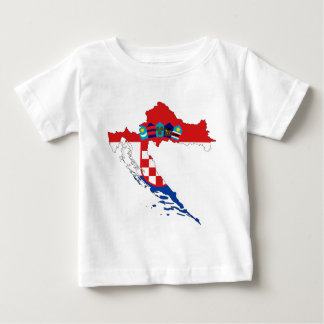 Croatia Flag Map Baby T-Shirt