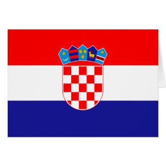 Croatia Flag Note Card